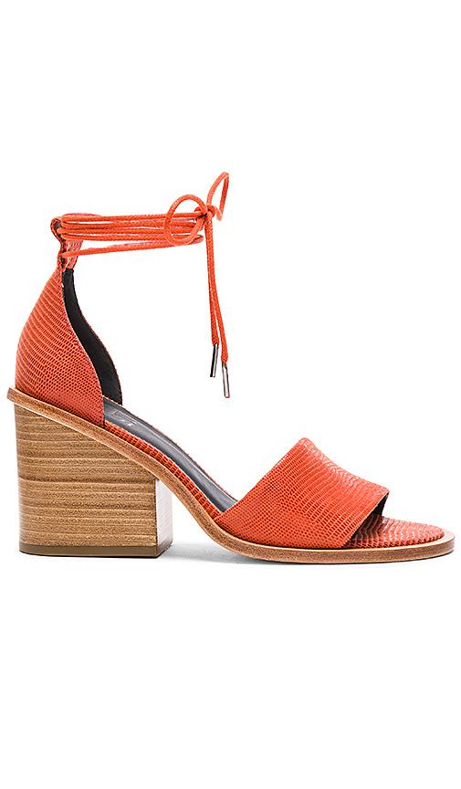 Tibi Clark Ankle Wrap Sandals In Burnt Orange