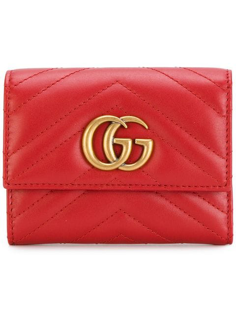 bf06c80c634 Gucci Gg Marmont MatelassÉ Wallet In Red