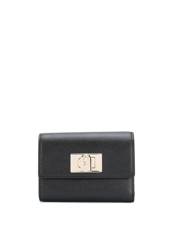 Furla 1927 M Compact Wallet Ares In Black