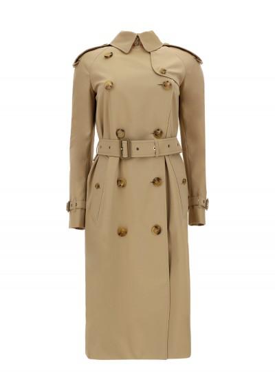 Burberry Bridstow Trench Coat In Brown/beige