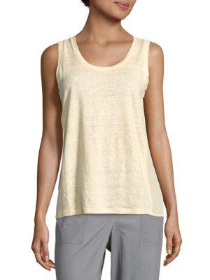 Sandro Solid Sleeveless Top In Yellow