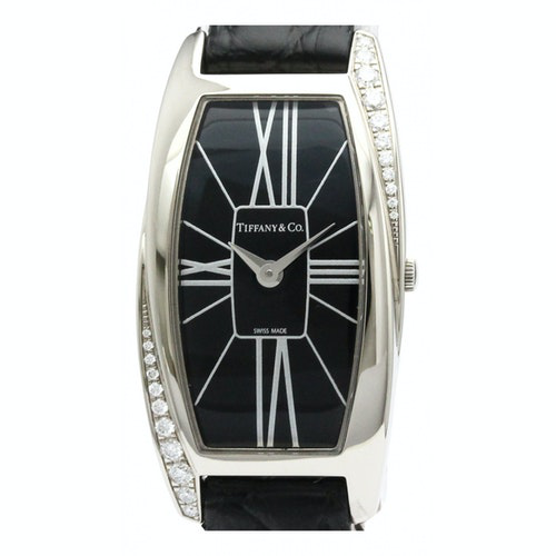 Pre-owned Tiffany & Co White Gold Watch In Black