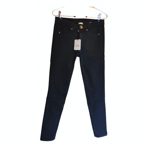 Pre-owned Hoss Intropia Black Denim - Jeans Trousers