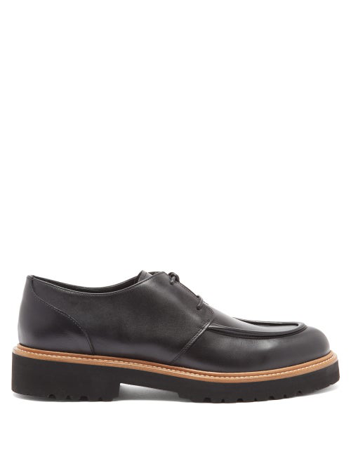 Rupert Sanderson Vesper Leather Derby Shoes In Black