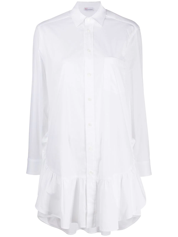 Red Valentino White Stretch Cotton Women's Dress
