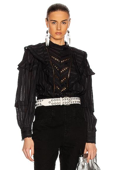 Isabel Marant Étoile Reign Top In Black
