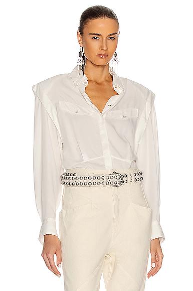 Isabel Marant Nalki Shirt In White