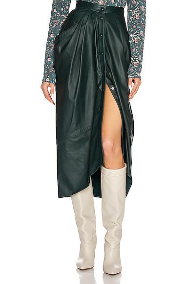 Isabel Marant Lyvia Skirt In Dark Green