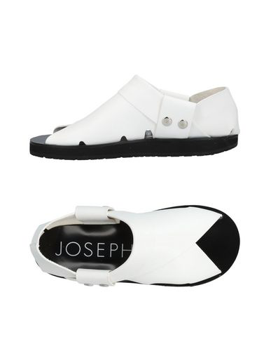 Joseph Collapsible-Heel Leather Flat Sandals In White