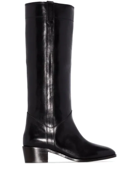 Isabel Marant Mewis 50 Black Leather Knee-high Boots