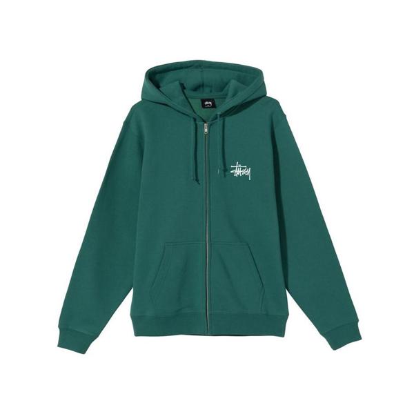 Stussy Basic  Zip Hood (dark Green)