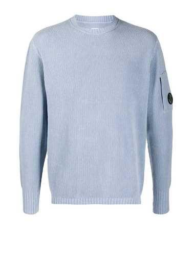 C.p. Company Cp Company Men's Light Blue Cotton Sweater