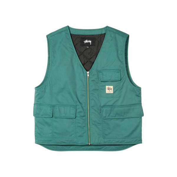 Stussy Insulated Work Vest (teal) In Green