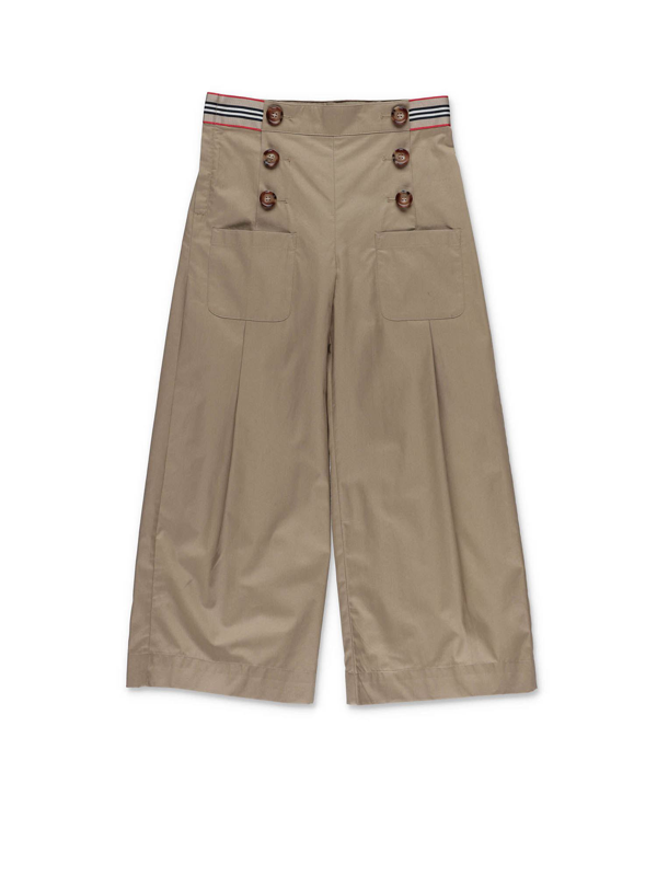 Burberry Kids' Tracey Pants In Beige