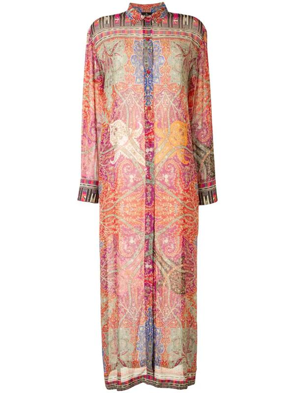 Etro Paisley Print Shirt Dress In Multicolour