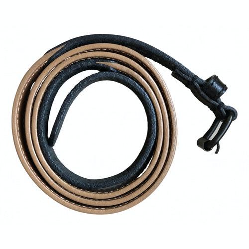 Pre-owned Comptoir Des Cotonniers Beige Leather Belt