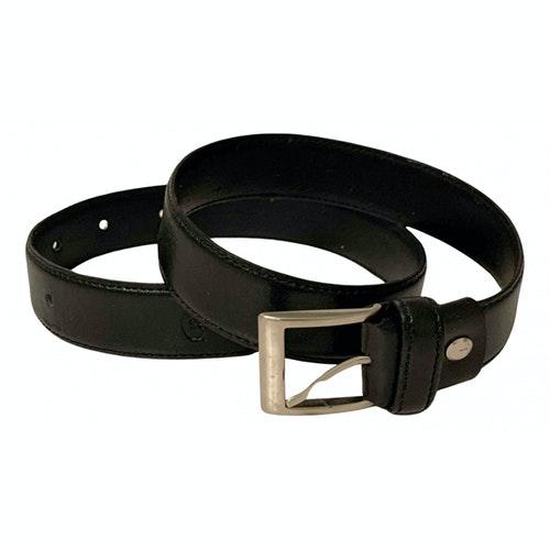 Pre-owned Cerruti 1881 Black Leather Belt