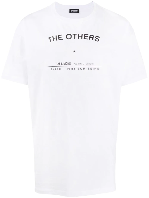Raf Simons The Others Tour Cotton T-shirt In White