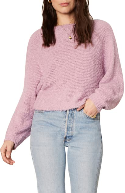 Cupcakes And Cashmere Perri Boucle Sweater In Violet Tulle