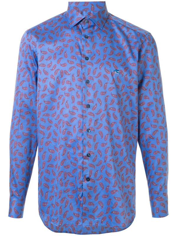 Etro Paisley Print Long-sleeved Shirt In Multicolour