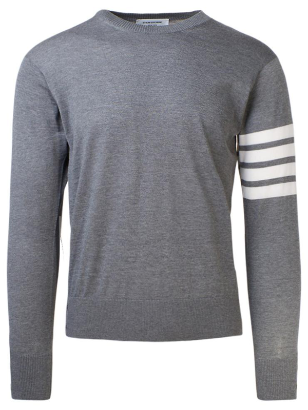 Thom Browne Crew Neck Sweater In Grey