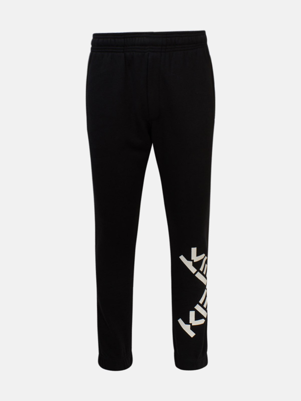 Kenzo Black Jogger Pants\npolyester And Cotton Pants\nside Logo\ntwo Zippered Side Pockets\none Zippered B