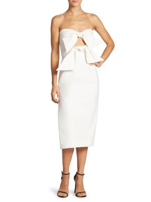 a9247e181c39 Milly Mackenzie Strapless Sweetheart Cocktail Dress In White | ModeSens