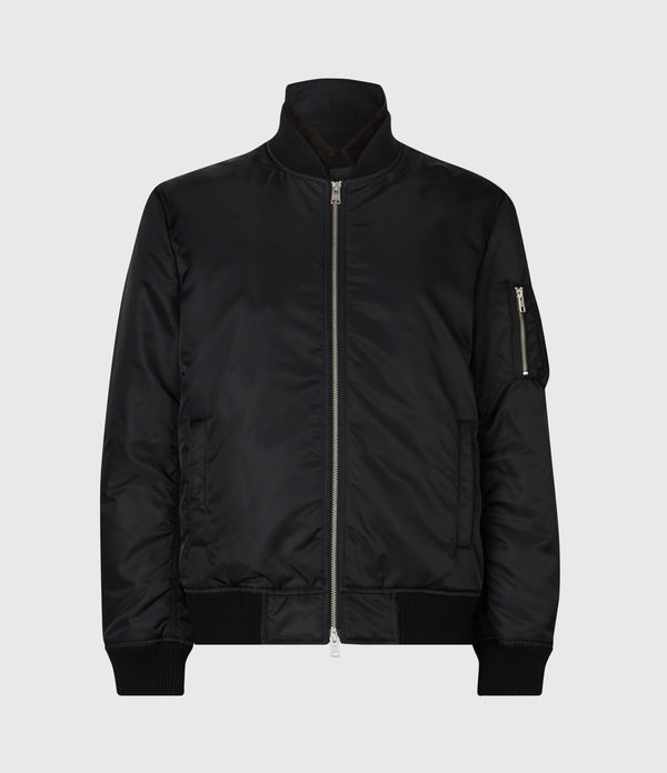 Allsaints Granthem Bomber Jacket In Black