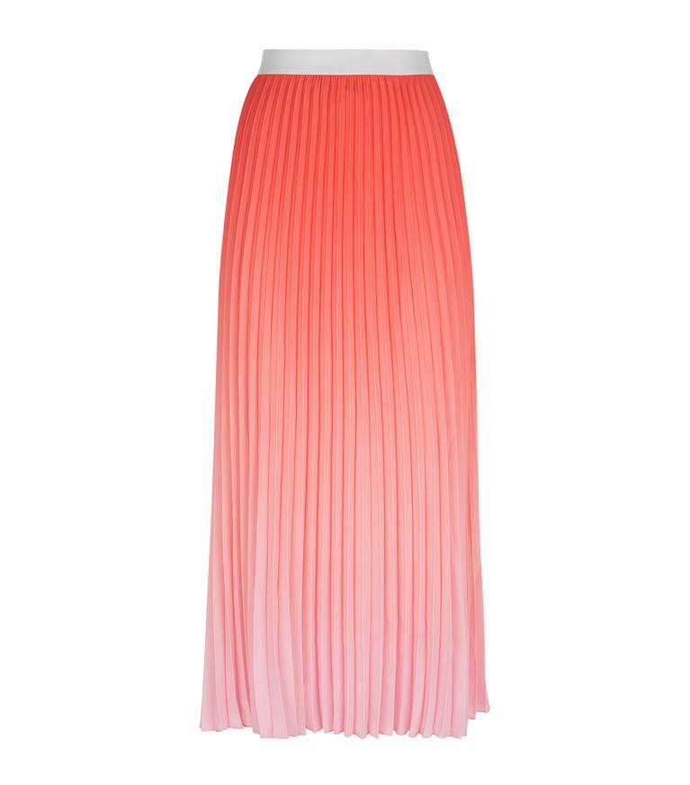 969697355a Maje Jonaelle OmbrÉ Pleated Midi Skirt In Rose | ModeSens