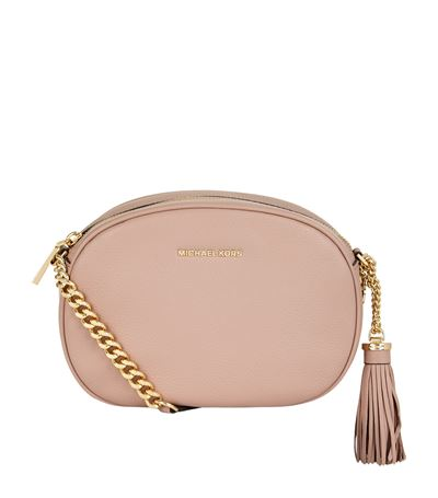 4b5147117d371f Michael Michael Kors Medium Ginny Messenger Bag In Beige   ModeSens