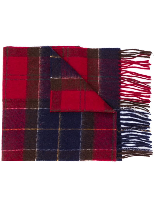 Barbour Men's New Check Tartan Scarf In Red