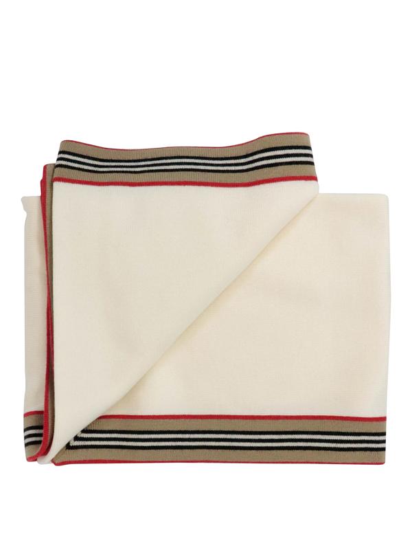 Burberry Kids' Kimmy Blanket In Cream Colour