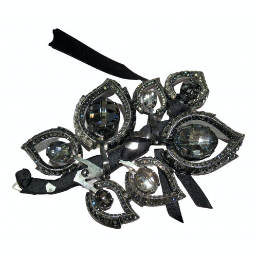 Pre-owned Lanvin Grey Crystal Pins & Brooches