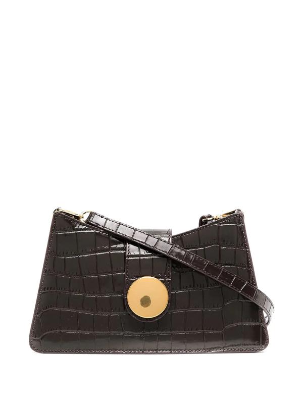 Elleme Crocodile Effect Bag In Brown