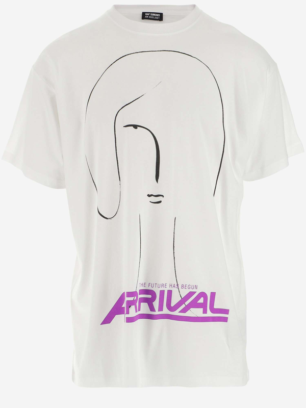 Raf Simons White And Purple Arrival T-shirt In Bianco
