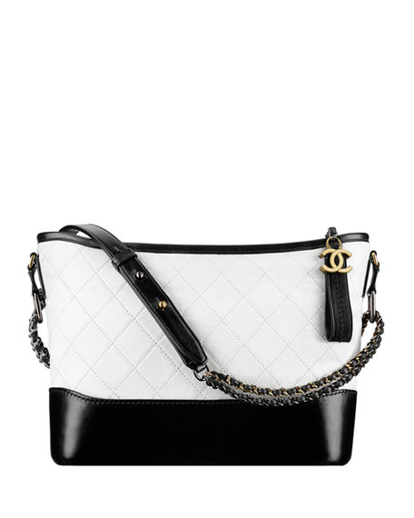 850e415362f4da Chanel 's Gabrielle Small Hobo Bag In White/Black | ModeSens