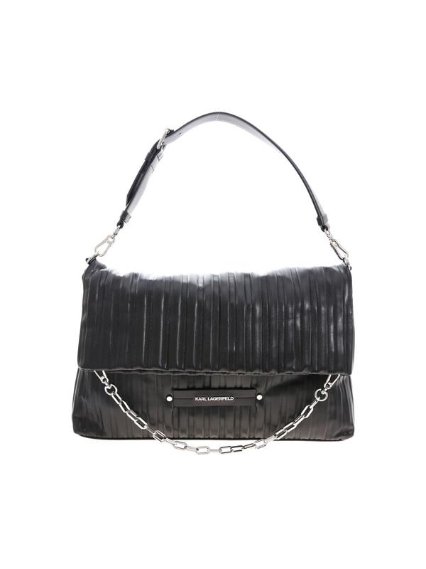 Karl Lagerfeld Tote K/kushion Shoulder Bag In Black