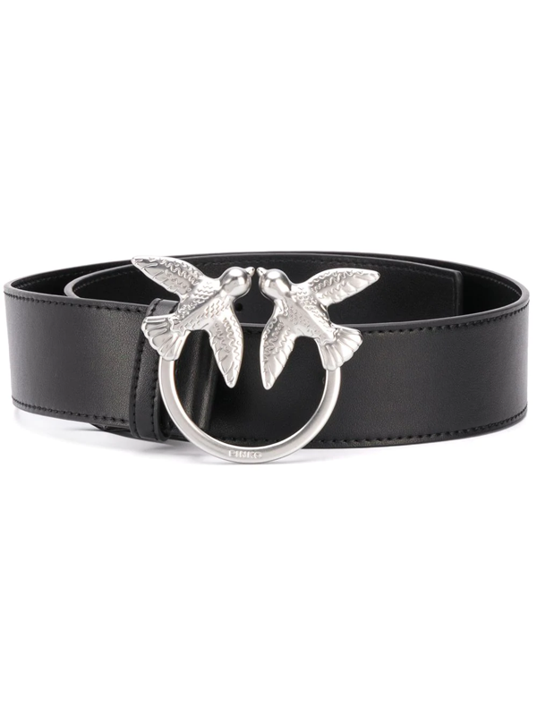 Pinko Swallow Plaque Belt In Black