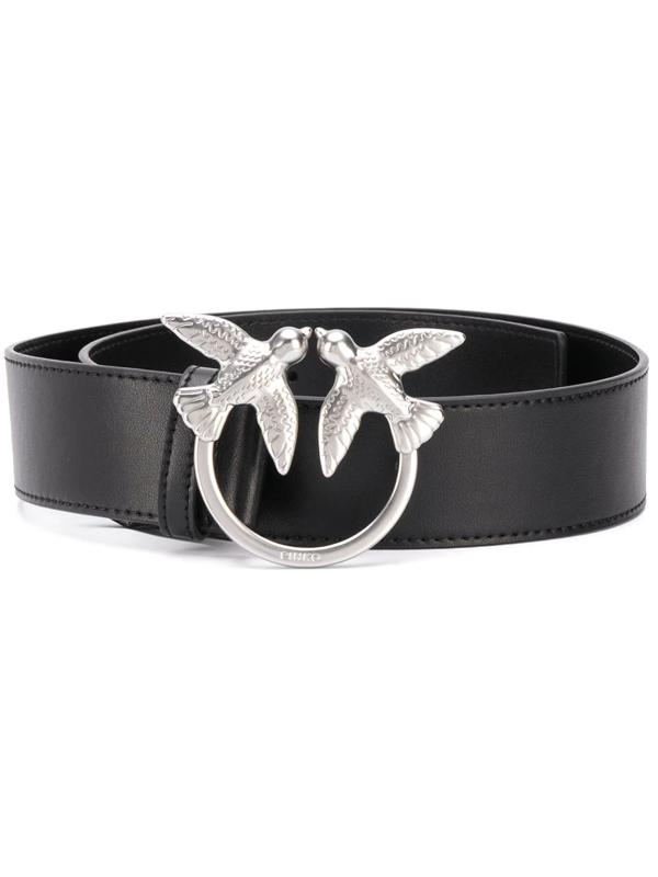 Pinko Swallow Plaque Belt In Black