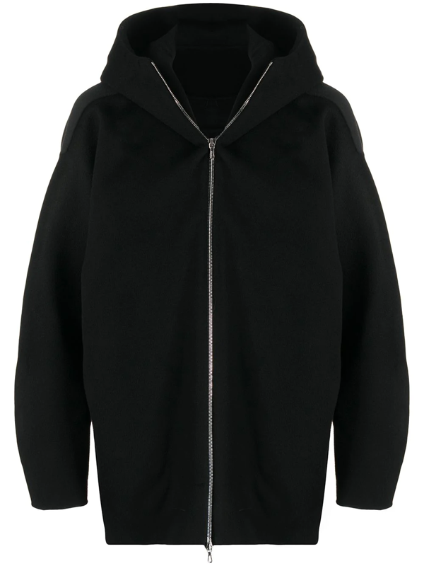 Attachment Oversized Hooded Jacket In Black