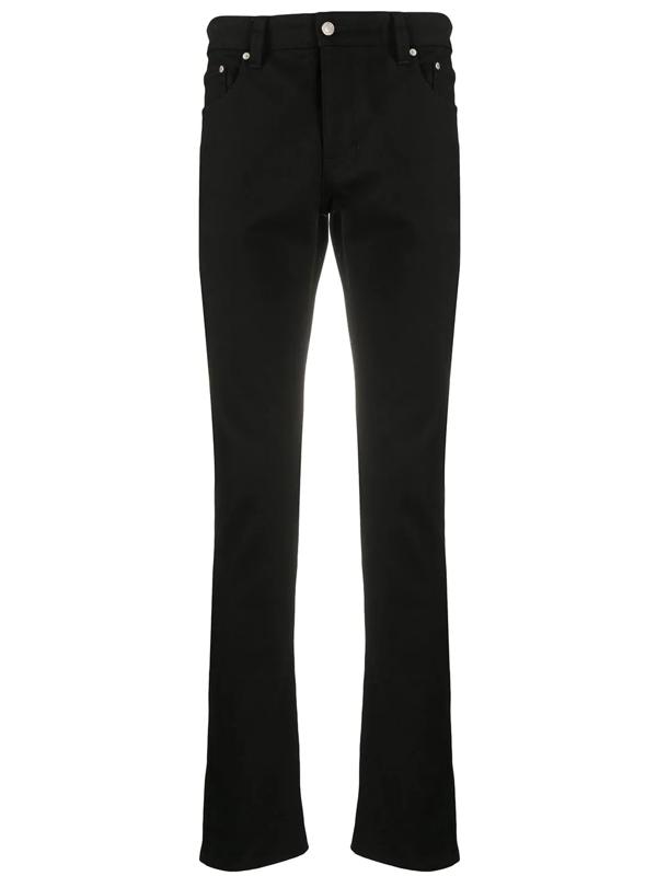Ami Alexandre Mattiussi Mid-rise Skinny Jeans In Black