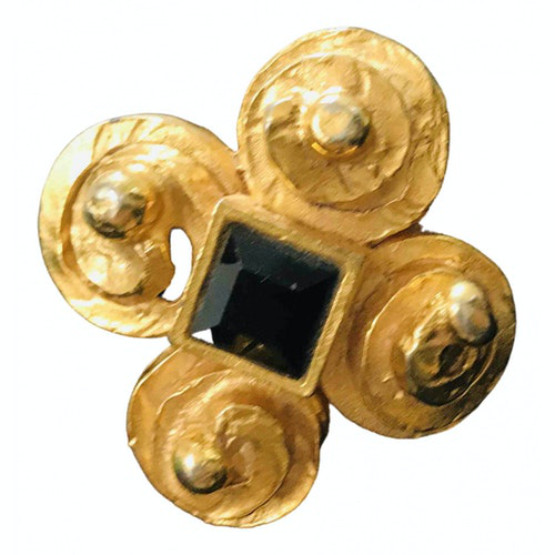 Pre-owned Lanvin Gold Gold Plated Pins & Brooches