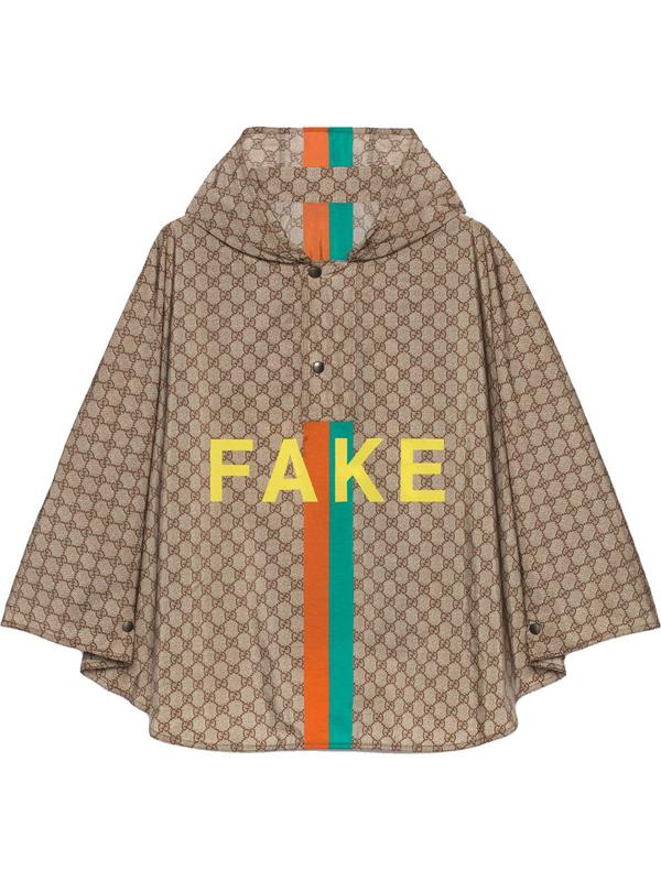 Gucci Men's Fake/not Print Gg Nylon Cape - Sand Yellow - Size Medium In Neutrals