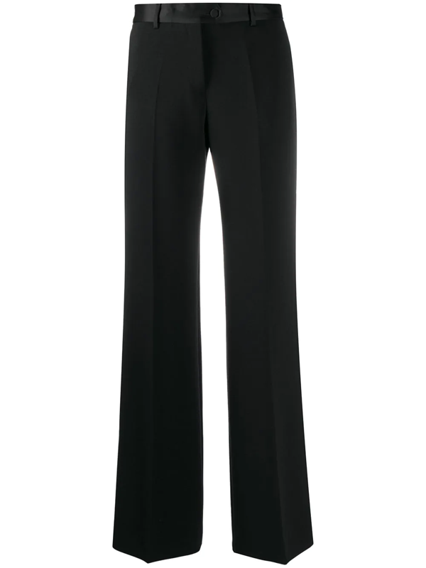 Paul Smith Wide-leg Tailored Trousers In Black
