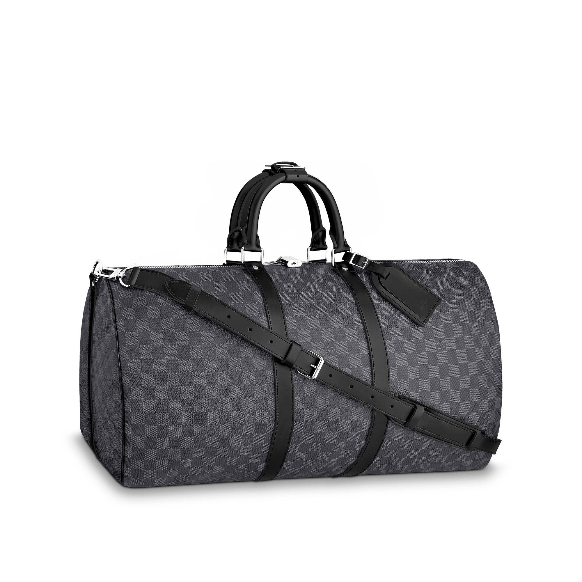 dc74352ed Louis Vuitton Keepall BandouliÈRe 55 In Damier Graphite Canvas ...
