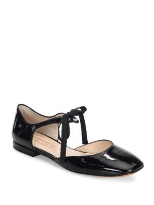 Marc By Marc Jacobs Alyssa Leather D'Orsay Ballet Flats In Black