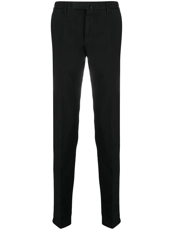 Incotex Tapered-leg Chino Trousers In Black