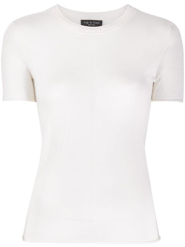 Rag & Bone Women's Mandee Short-sleeve Cashmere Sweater In White