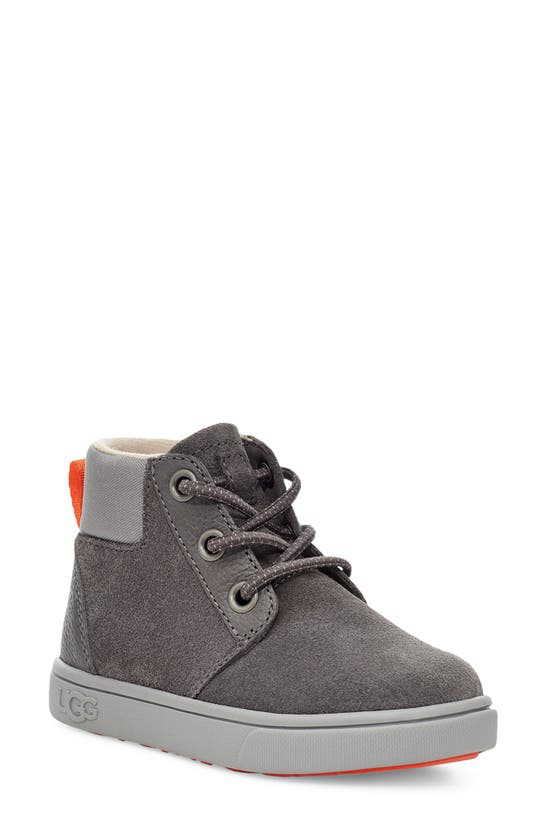 Ugg Kids' Boy's Jayes Mix-leather Zip Boots, Baby/toddlers In Charcoal