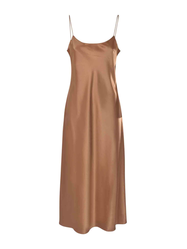 Theory Telson Dress In Brown Synthetic Fibers